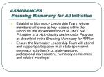 assurances ensuring numeracy for all initiative4