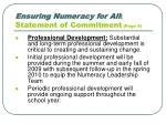 ensuring numeracy for all statement of commitment page 4