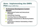 how implementing the enfa plan page 6 enfa plan
