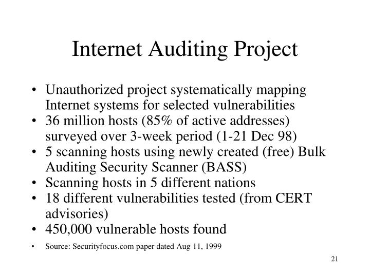 Internet Auditing Project