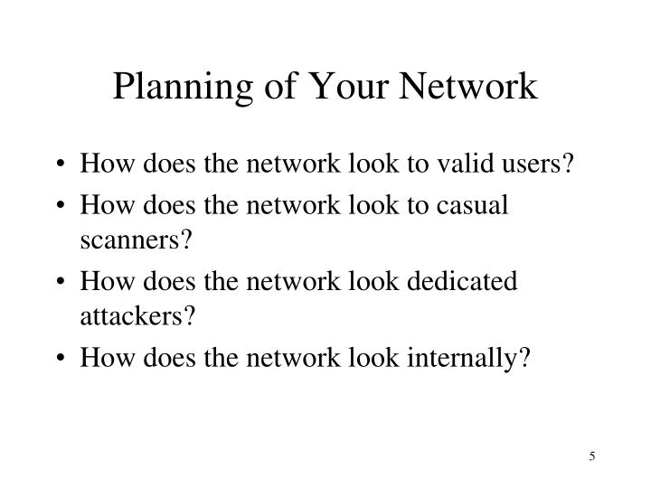 Planning of Your Network