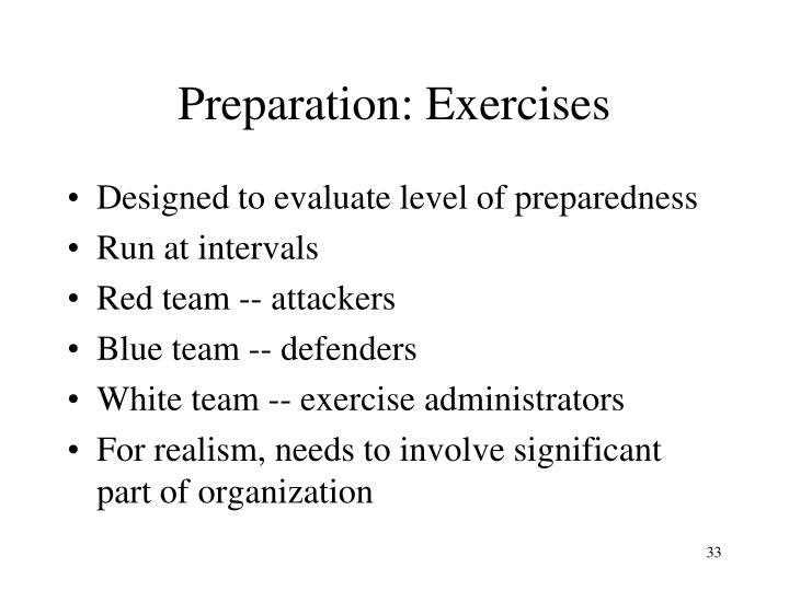 Preparation: Exercises