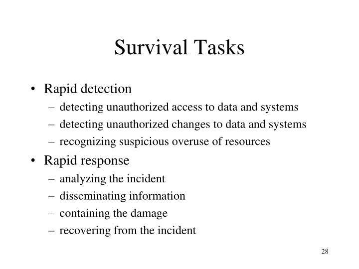 Survival Tasks