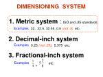 dimensioning system