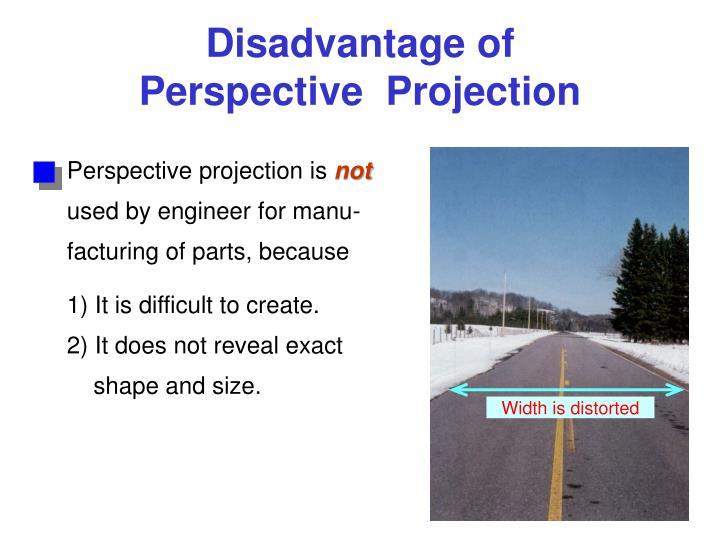 Disadvantage of