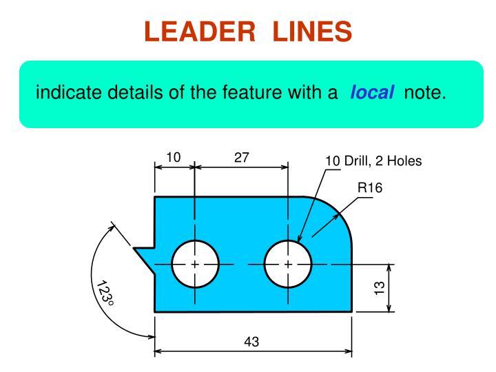 LEADER  LINES