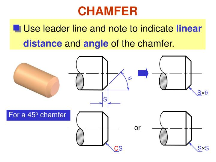 Use leader line and note to indicate