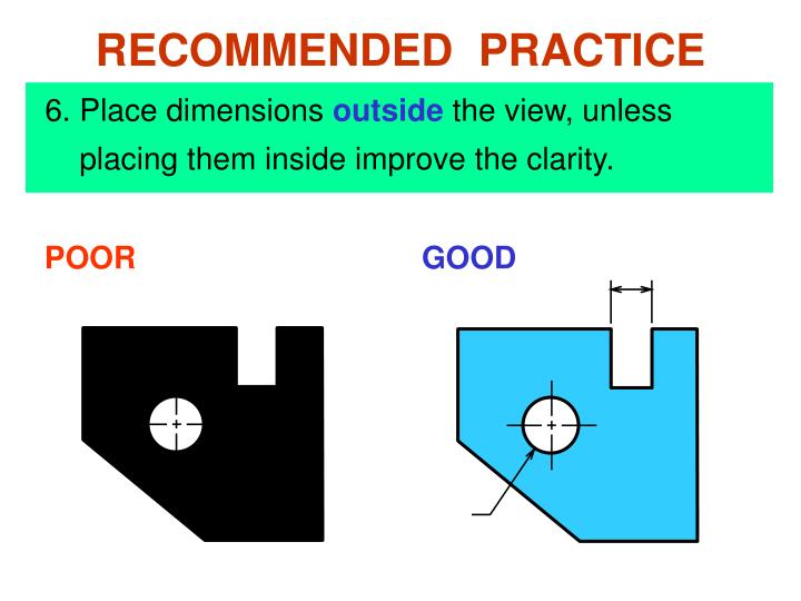 6. Place dimensions