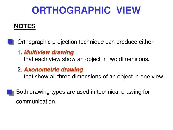 Both drawing types are used in technical drawing for communication.