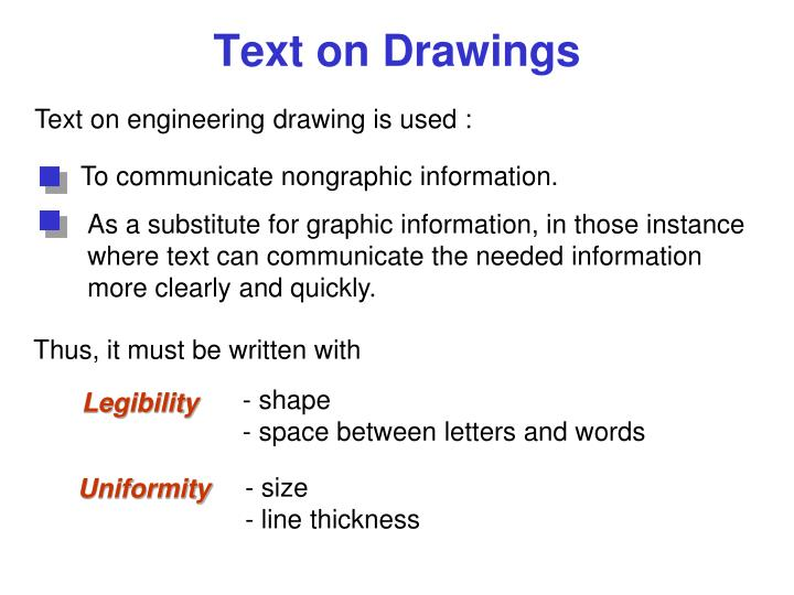 To communicate nongraphic information.
