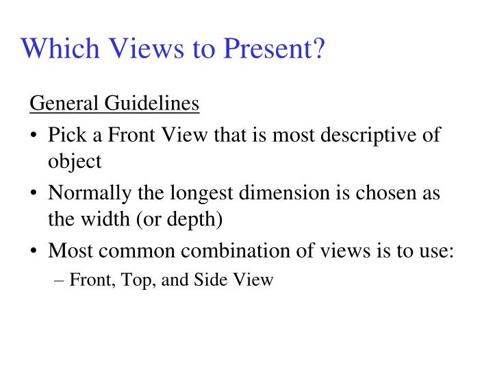 Which Views to Present?