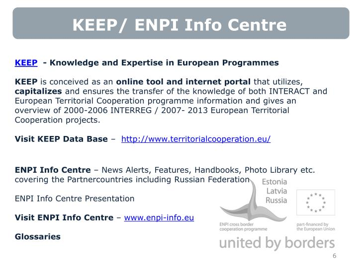 KEEP/ ENPI Info