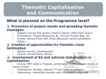thematic capitalisation and communication