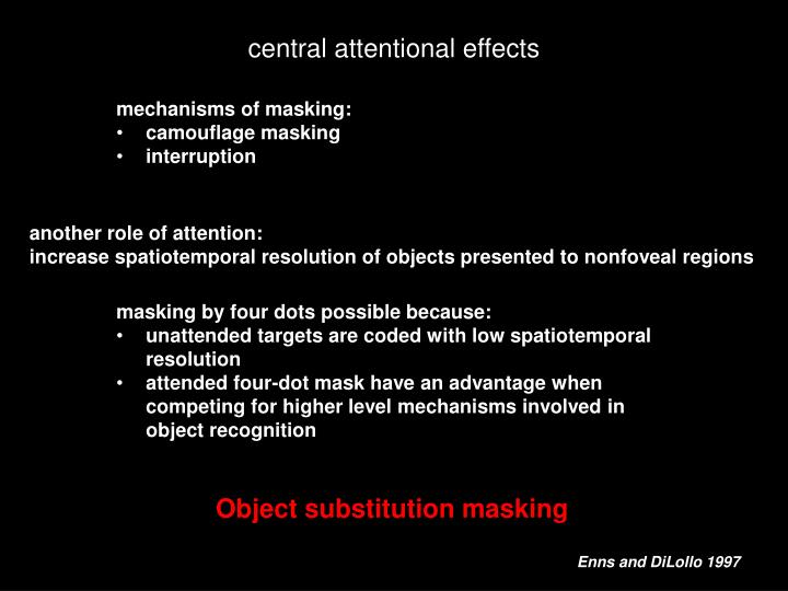 mechanisms of masking: