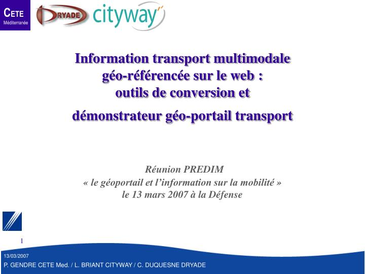 Information transport multimodale