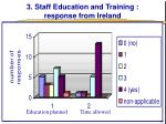 3 staff education and training response from ireland