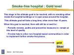 smoke free hospital gold level