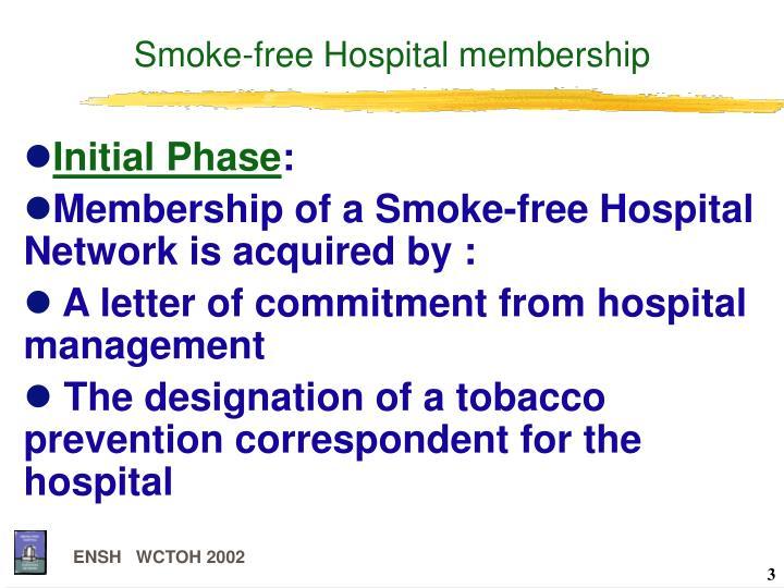 Smoke-free Hospital membership