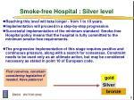 smoke free hospital silver level