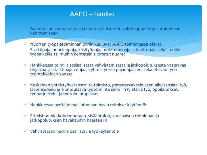 AAPO – hanke: