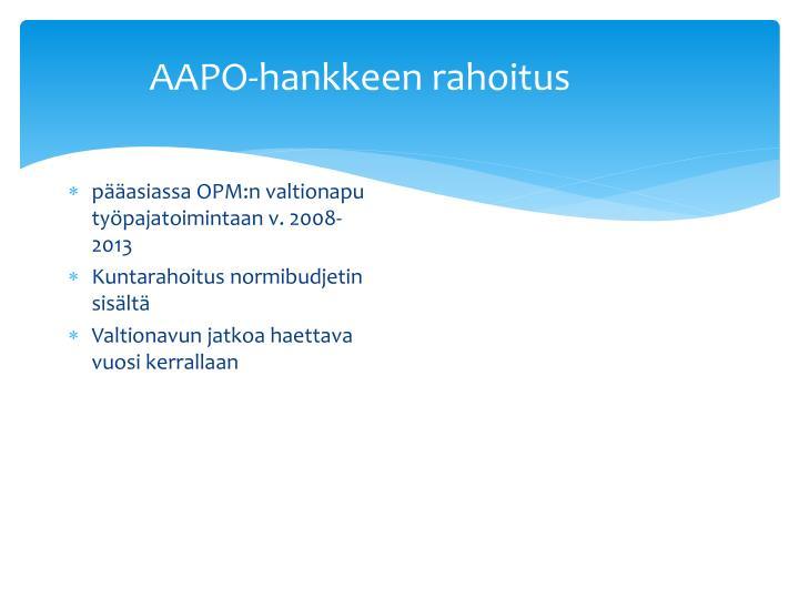 AAPO-hankkeen rahoitus