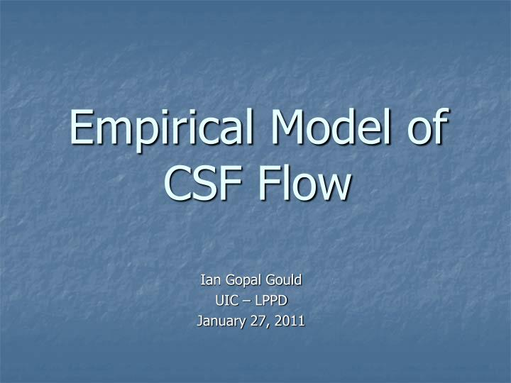 Empirical model of csf flow