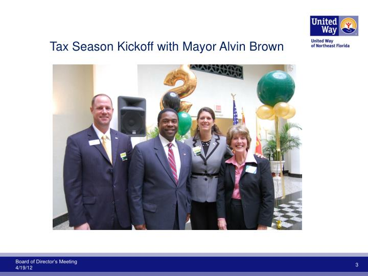 Tax Season Kickoff with Mayor Alvin Brown