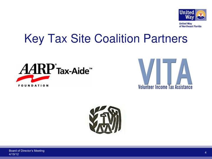 Key Tax Site Coalition Partners