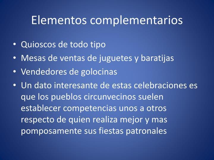 Elementos complementarios
