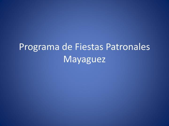 Programa de Fiestas Patronales