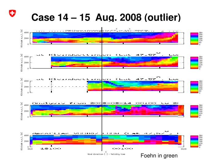 Case 14 – 15  Aug. 2008 (outlier)