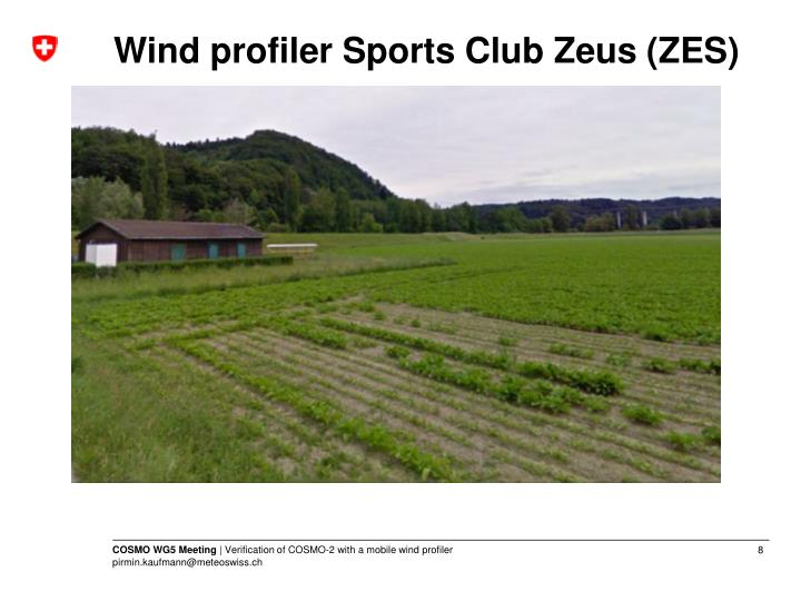 Wind profiler Sports Club Zeus (ZES)