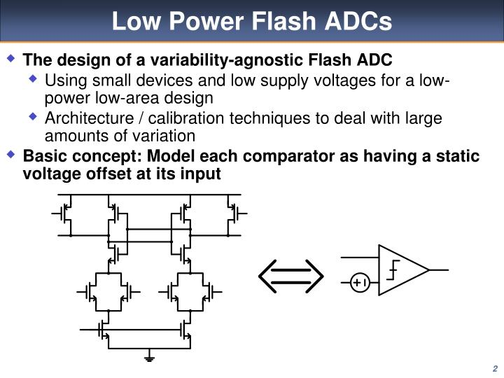 The design of a variability-agnostic Flash ADC