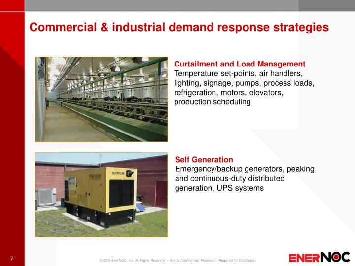 Commercial & industrial demand response strategies
