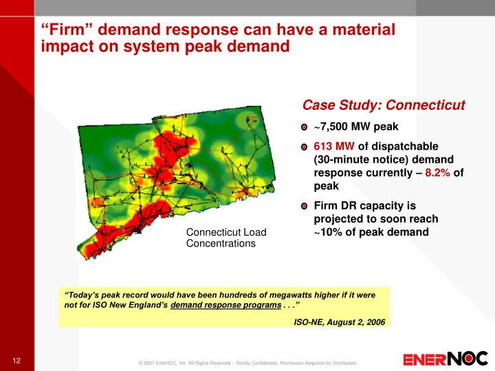 """Firm"" demand response can have a material"
