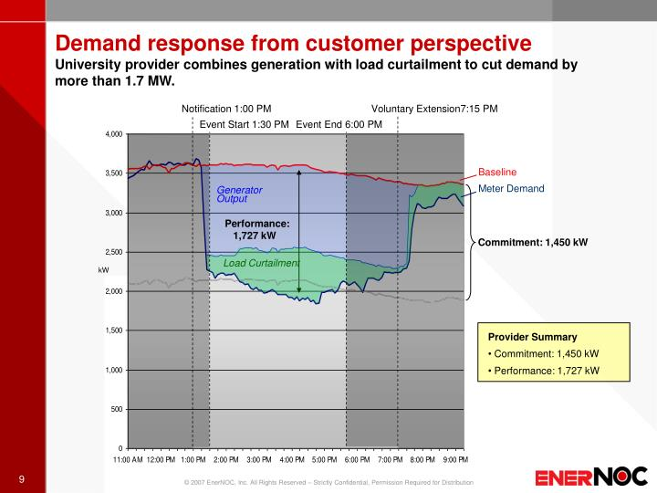Demand response from customer perspective