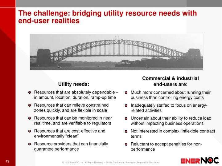 The challenge: bridging utility resource needs with