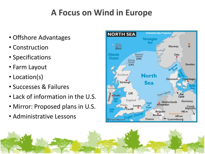 A focus on wind in europe