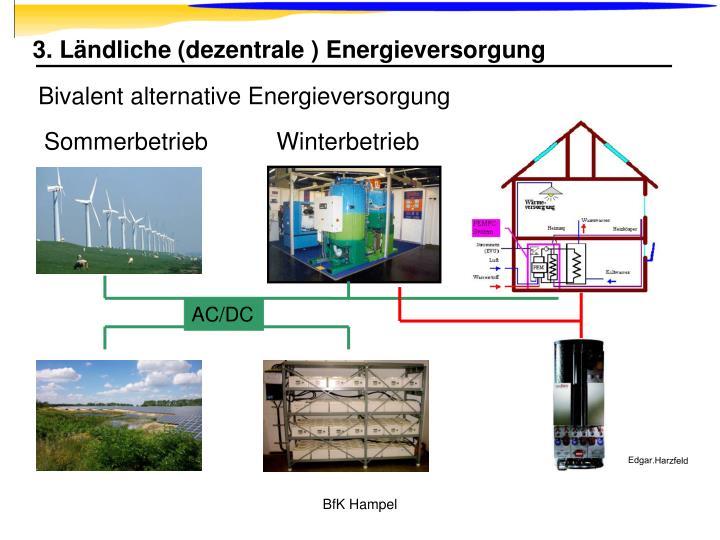 3. Ländliche (dezentrale ) Energieversorgung