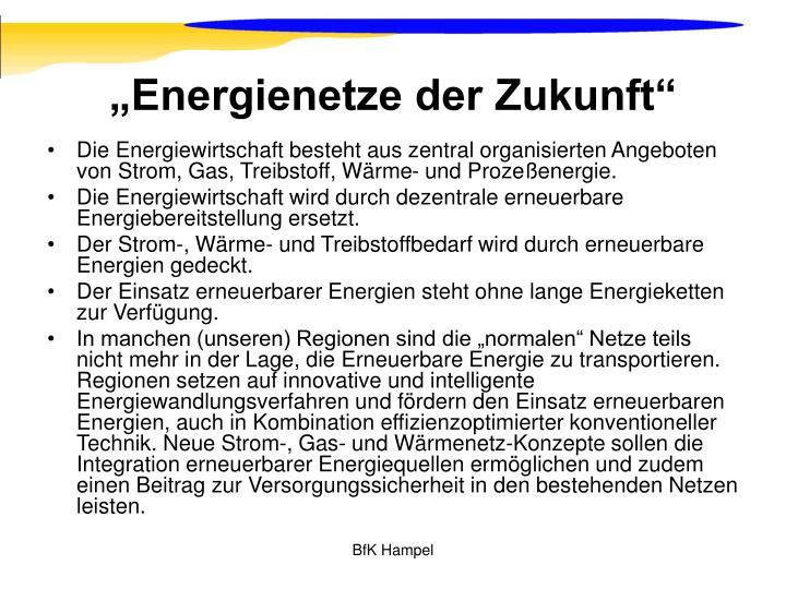 """""""Energienetze der Zukunft"""""""
