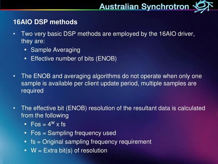 16AIO DSP methods