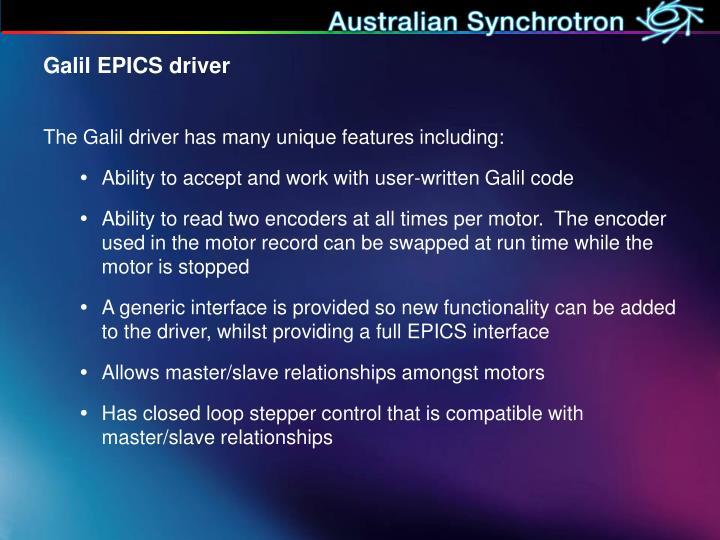 Galil EPICS driver