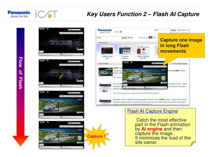 Key Users Function 2 – Flash AI Capture