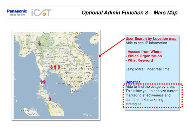 Optional Admin Function 3 – Mars Map