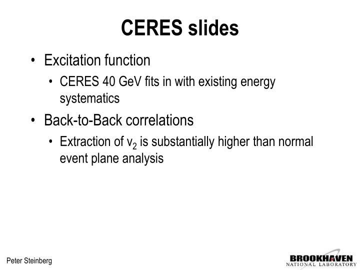 CERES slides