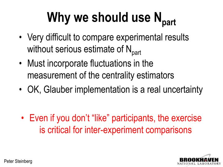 Why we should use N