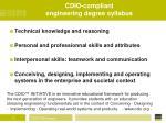 cdio compliant engineering degree syllabus