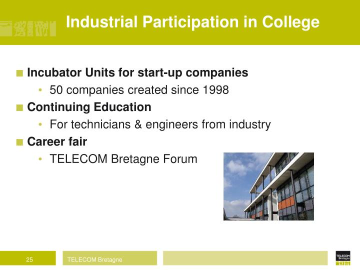 Industrial Participation in College