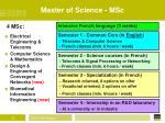 master of science msc