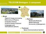 telecom bretagne 3 campuses